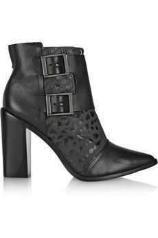 Piper snake-effect leather boots by: Tibi
