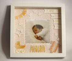 Weiteres - Personalisiertes Bild zur Geburt in Ribba-Rahmen - ein Designerstück von Eutopia bei DaWanda