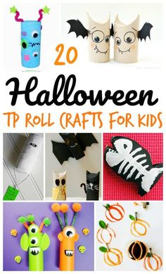 Halloween is the perfect time to create some super spooky and cute crafts with your kids. These Halloween Toilet Paper Roll Crafts for Kids are really fun and your kids will really love making them. We curated a great list of pretty much every type of Halloween-themed toilet paper roll craft you can imagine. You will definitely find a great craft idea to do with your kids here! | Halloween Crafts for Kids | Halloween Toilet paper roll Crafts for Kids