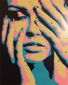 Art  Touch by Ray Ferrer   20 x 16 Spray paint on by UrbanWallArt
