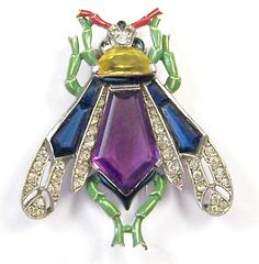 TRIFARI 'Alfred Philippe' Sapphire, Amethyst, Citrine, Pave & Enamel from sharons-sparkles on Ruby Lane