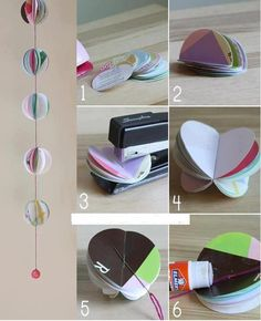 DIY Paper Ball Mobile
