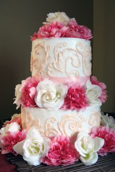 Cotton Candy Wedding Cake