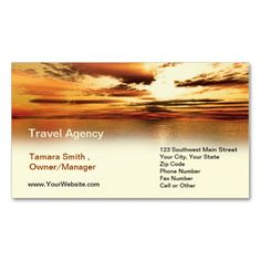 Travel Agency Business Card Template.