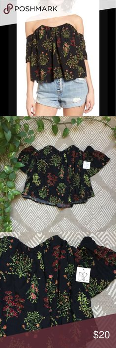 NWT BP Off the Shoulder Top Brand new! Has wire support inside to keep the top up. bp Tops Blouses