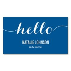 Stylish Hello Modern Business Card