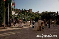 Wedding and Event planning by awolgranada.com destination wedding planner in Granada, Spain. Venue - Palacio de los Cordova with views of the Alhambra www.awolgranada.com