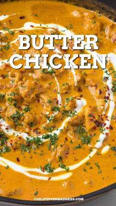 Butter Chicken Recipe This authentic Indian curry is made from scratch and still quick to make. It melts in your mouth, it tastes so buttery. Serve with naan and rice for a delicious spicy dinner. Spicy Recipes, Easy Chicken Recipes, Asian Recipes, Mexican Food Recipes, Cooking Recipes, Recipes With Chicken Curry, Recipe For Indian Butter Chicken, Indian Recipes For Dinner, Persian Food Recipes