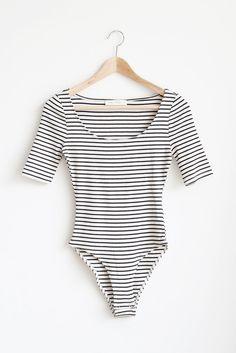 28fe8ca6e0 Candice Bodysuit - Stripe Bodysuit Shirt