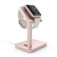 Satechi rose gold Apple Watch charging stand  $13.99