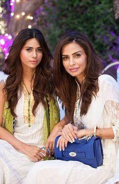 Pakistani Fashion Models,  Fouzia Aman and Huma Khan