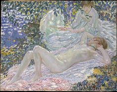 Frederick Carl Frieseke (1874–1939). Summer, 1914. The Metropolitan Museum of Art, New York. George A. Hearn Fund, 1966 (66.171)