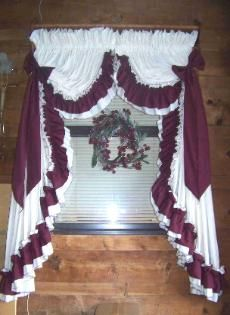 ruffledcurtains Country Style Curtains, Country Decor, Ruffle Shower Curtains, Drapes Curtains, Kitchen Window Curtains, Window Cornices, Shabby Chic Floor Lamp, Priscilla Curtains, Rideaux Shabby Chic