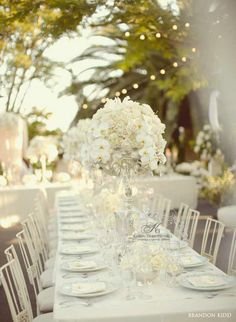 Vintage-inpired-wedding-silver-candelabras-crystals-chandeliers