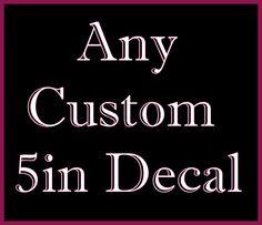 Custom Decal by CraftyLittleBug on Etsy