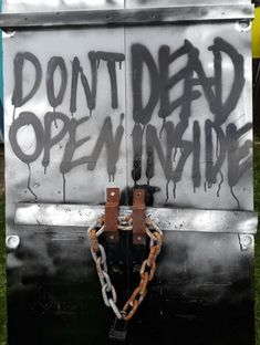 """How to Make the Zombie Door From """"The Walking Dead"""" for Halloween. Learn how to make a Halloween zombie door with step-by-step instructions and photos. This door from """"The Walking Dead"""" can be part of your scary Halloween yard display this year."""
