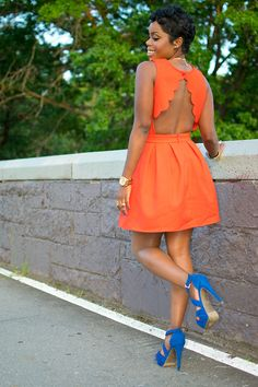 Orange and blue, perfect for any season