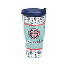 Tervis Simply Southern Whale Tumbler with Travel Lid, 24 oz, Clear