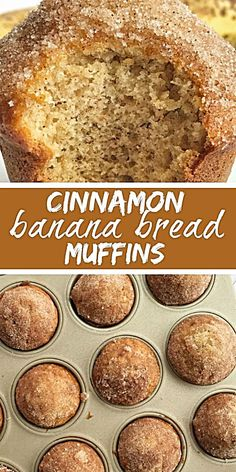 Banana Muffins taste like banana bread in muffin form with a sweet cinnamon & butter topping. They are perfectly light and moist, loaded wi. Cinnamon Banana Bread, Banana Bread Muffins, Cinnamon Butter, Cinnamon Muffins, Banana Bread Recipes, Muffin Recipes, Chocolate Muffins, Breakfast Muffins, Healthy Vegetarian Recipes