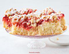 Ciasto drożdżowe z truskawkami Polish Recipes, Dessert Recipes, Desserts, Vanilla Cake, A Food, Strawberry, Gluten, Cooking Recipes, Sweet