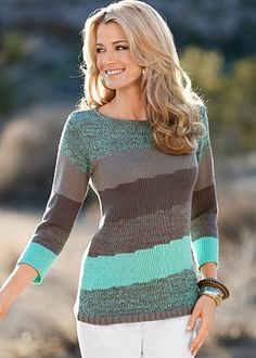 This sweater by Venus would look great with a brown pair of leggings