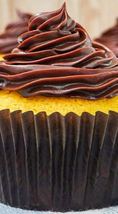 Brazilian Carrot Cupcakes with Ganache Frosting