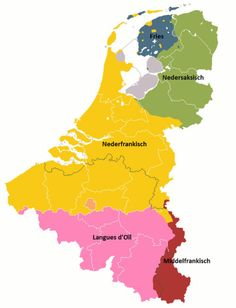 Languages in the Benelux The map groups dialects with their common ancestor. United Nations Peacekeeping, Netherlands Map, Amsterdam, The Past, Languages, History, Brussel, Infographics, Landscapes