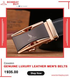 Good Quality Cowskin Genuine Luxury Leather Men's Belts for Men with Metal Automatic Buckle Online Men's Belts, Leather Belts, Leather Men, Branded Belts, Online Fashion Stores, Famous Brands, Fashion Accessories, Man Shop, Luxury