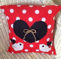 Polka Dot Cushion Cover - Bird Detail on Etsy, £12.00