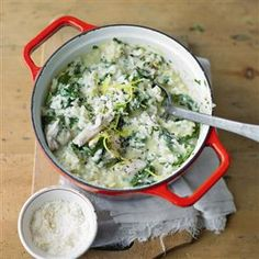 Baked chicken and herb risotto Recipe | delicious. Magazine free recipes