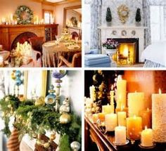 ... beautiful candle 3 500x458 Coolest Christmas Mantel Decorating Ideas
