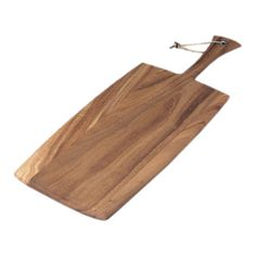 Set out an array of cheeses at your next soiree or prep for family meals with this versatile cutting board, crafted of acacia wood and showcasing a paddle-in...