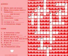 valentine´s crossword 2