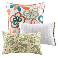 Martinique 3 Piece Floral Pillow Set