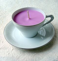 Fix Scratched Dishes   #DIY Teacup Candles