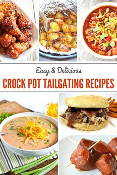 These amazing crock pot tailgating recipes! These are perfect for any football tailgating get together you could host! Crock Pot Food, Crock Pot Slow Cooker, Slow Cooker Recipes, Crockpot Recipes, Cooking Recipes, Slow Cooking, Egg Recipes, Freezer Recipes, Easy Cooking
