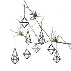 Set of 8 // Himmeli Ornaments / Modern Hanging Mobile / Geometric Sculpture / Minimalist Home Decor. diy, minimalist, minimal, home decor, plant hanger Christmas Tree Ornaments, Christmas Crafts, Christmas Decorations, Diy Ornaments, Christmas Gift Guide, Vintage Ornaments, Hanging Ornaments, Xmas Tree, Design Blog