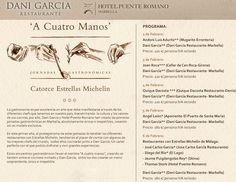 A Cuatro Manos, Jornadas Gastronómicas con Dani García