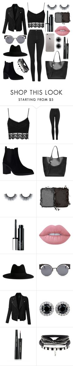 """Untitled #89"" by ines-cunha-i ❤ liked on Polyvore featuring Topshop, KG Kurt Geiger, Alexander McQueen, NARS Cosmetics, Clinique, Lime Crime, Yves Saint Laurent, LE3NO and Dolce&Gabbana"