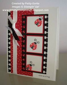 Ladybug Film Strip by LaLatty - Cards and Paper Crafts at Splitcoaststampers