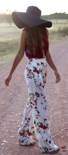 Typically, I dress very bohemian chic. It's just very me. Some flowers, and just…