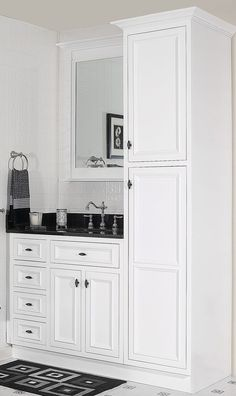 Danbury White Bathroom Vanity Set 36
