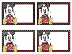 Organize your classroom with these blank Disney Mickey themed classroom labels. Includes 8 labels for you to print and write on. 4 of the labels are color and 4 are black and white. Please let me know if you would like a different theme, color, or character!