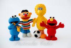 Cute and petite handmade fondant Sesame Street figurines