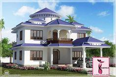 Attractive Beautiful Dream Home Design Sq Feet Kerala House Design Idea Isometric  Views Small House Plans Kerala House Design Idea