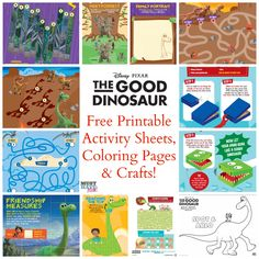 The Good Dinosaur Free Printable Activity Sheets, Coloring Pages, and crafts!