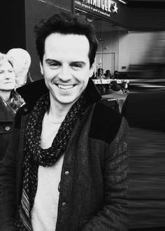 Andrew Scott, I rather love your smile, dear.