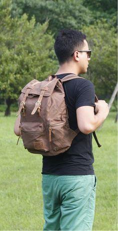 f35f49480b Latest Generic Vintage Men Casual Canvas Backpack. Rucksack Bookbag Satchel.  Hiking Bag. JUST  30.99