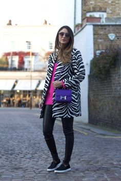 Zebra-stripe printed coat, 2013 fashion  shaping zebra-stripe printed coat, street style zebra trench coat without buttons for girls #zebra-stripe #suits www.loveitsomuch.com