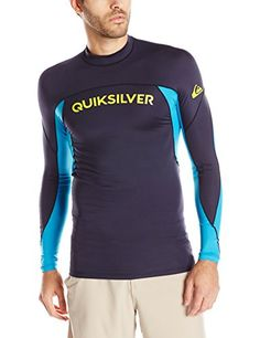 Quiksilver Mens Performer Long Sleeve Surf Tee Rashguard Navy BlazerHawaiian Blue XXLarge * Find out more by clicking the image